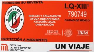 Presenta STC boleto de grupos que ayudan a migrantes