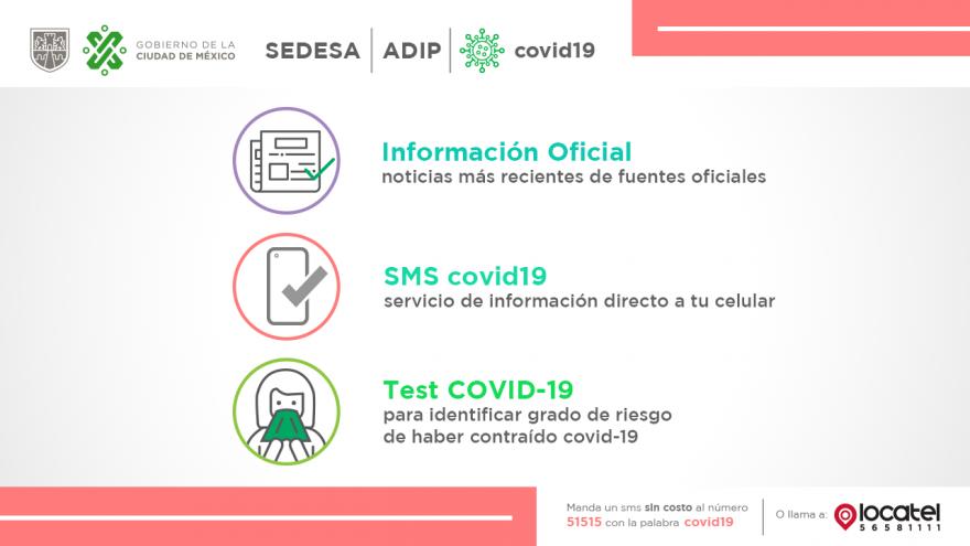 Aquí te mantendremos informad@ sobre el COVID-19 con información oficial